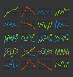 Graphic business ratings and charts collection vector