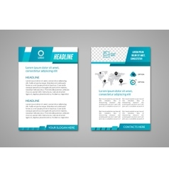 Brochure flyer design business layout vector