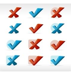check mark Yes No vector image