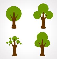 color tree vector image vector image