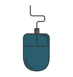 computer mouse isolated icon vector image