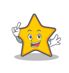 Finger star character cartoon style vector