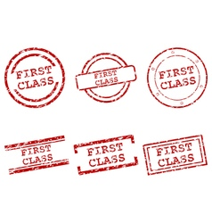 First class stamps vector image