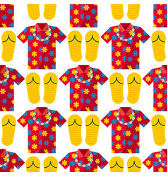 Hawaii t-shirt summer clothe and beach vector