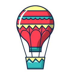 Hot air balloon icon cartoon style vector