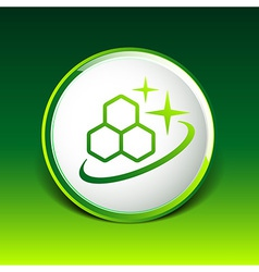 Molecule Icon isolated glossy shiny atom vector image