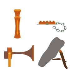 Objects for hunting baits and traps vector image