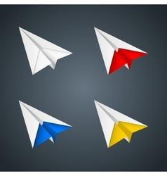 paper plane set vector image