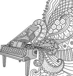 piano colorng vector image