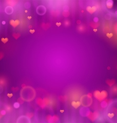 Purple background with hearts vector image vector image