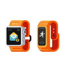 Smart watch and fitness gadget vector