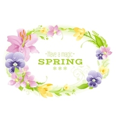 Spring white background Easter Mothers day vector image