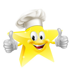 star chef mascot vector image