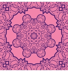 Violet flower mandala like design vinatge element vector