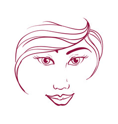 Women head silhouette vector