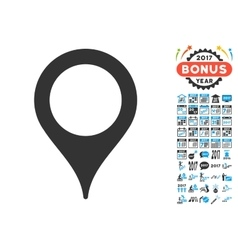 Map pointer icon with 2017 year bonus symbols vector
