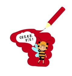 Kid in bee insect dress vector