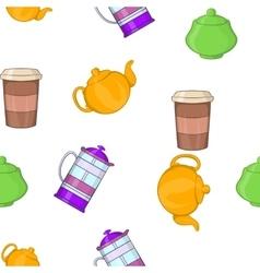 Beverage pattern cartoon style vector