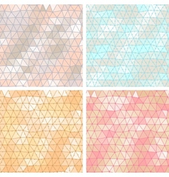 Old lace background set of 4 seamless pattern vector