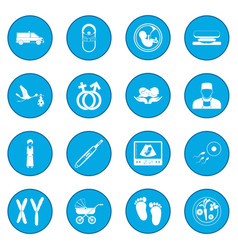 Pregnancy icon blue vector
