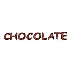 Liquid dark chocolate isolated on white background vector