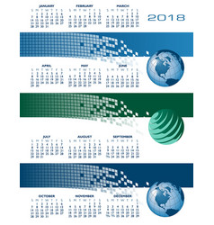 2018 calendar web banners vector image vector image