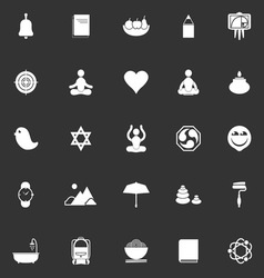 Zen society icons on gray background vector