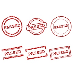 Passed stamps vector