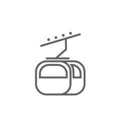 Funicular line icon vector