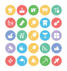 Construction icons 10 vector
