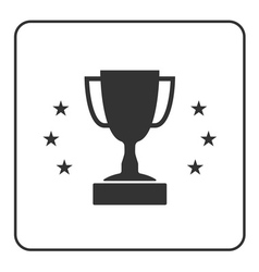 Trophy cup with stars icon 3 vector