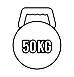 Orbed dumbbell with number weight graphic vector