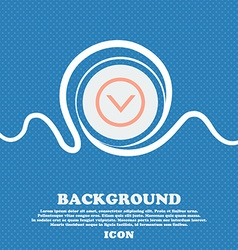 Arrow down download load backup sign icon blue and vector
