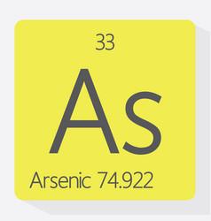 arsenic vector image