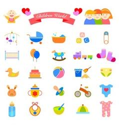 Baby flat icon vector