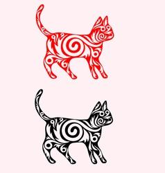 Cat ornate vector