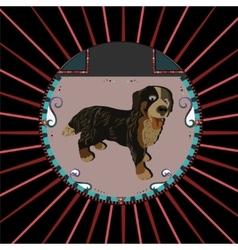 Dog portrait vector