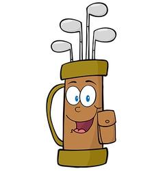Golf Bag Cartoon Character vector image vector image