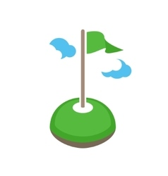 golf logo teamplate Golf club logo design vector image