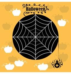 Halloween cobwebs vector