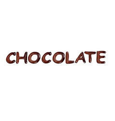 liquid dark chocolate isolated on white background vector image vector image