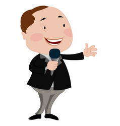 man talking on a microphone vector image