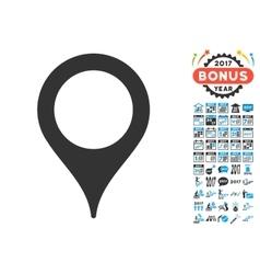 Map pointer icon with 2017 year bonus symbols vector