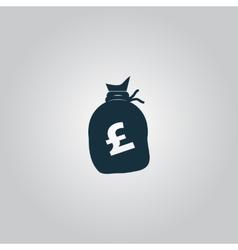 Money bag icon Pound GBP vector image