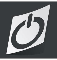 Monochrome power sticker vector