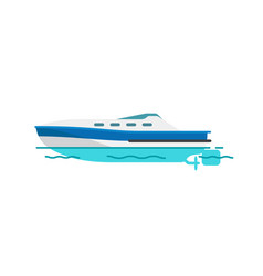 motor boat sailboat isolated vector image