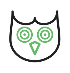 Owl face vector