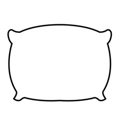 Pillow bed isolated icon vector
