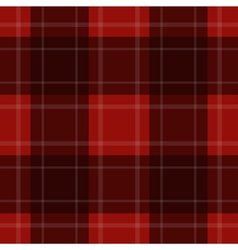 Seamless red tartan with stripes vector