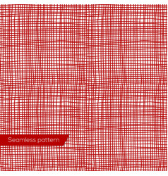 Seamless texture of red canvas vector image